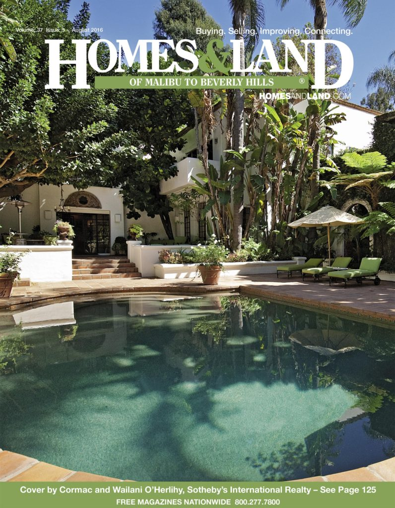 August Issue of Homes & Land of Malibu to Beverly Hills